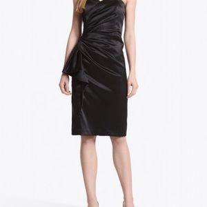 White House Black Market Strapless Sheath Dress